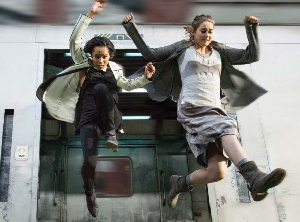 Shailene Woodley and Zoë Kravitz both play young teen rebels fighting against the tyrannical government that rules their dyopian society.  (Photo provided by eonline.com)