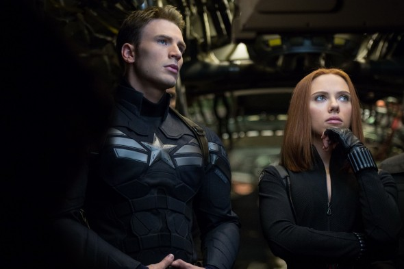 "Chris Evans and Scarlet Johansson form believable chemisty and friendship in ""Captain America: The Winter Soldier.""  (Photo provided by marvel-movies.wikia.com)"