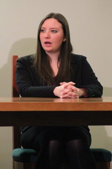 Neely Laufer, the vice president of Student Association, led her third senate meeting of her term on Tuesday.  (David Armelino | The Oswegonian)