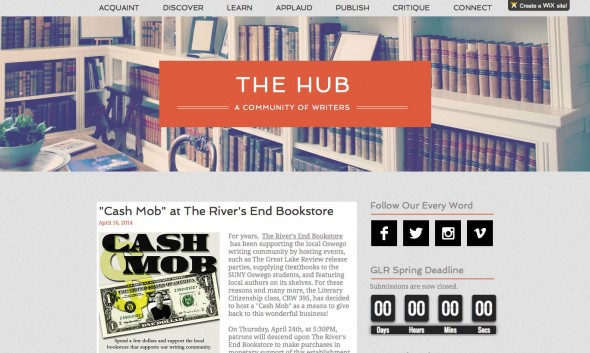 A screenshot of 'The Hub' webpage.