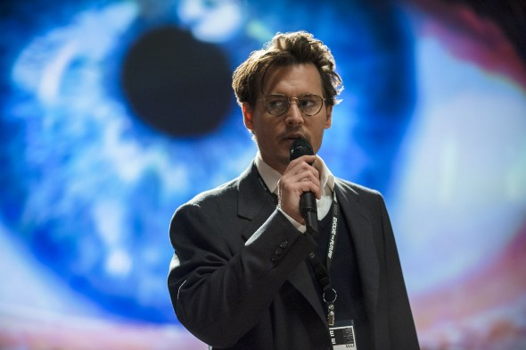Johnny Depp plays a scientist whose mind is uploaded onto a supercomputer.  (Photo provided by collider.com)