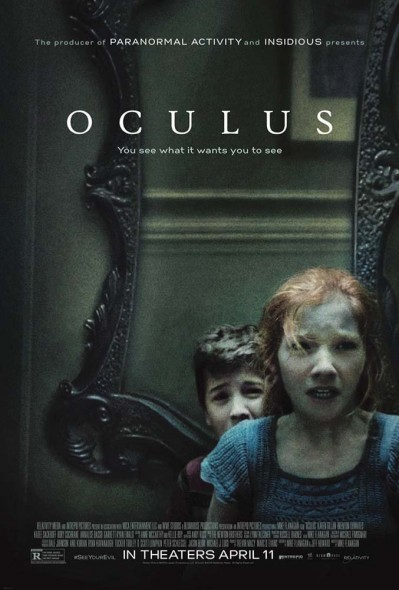 Annalise Basso and Garrett Ryan play children menaced by a supernatural mirror.  (Photo provided by oculus2014.com)