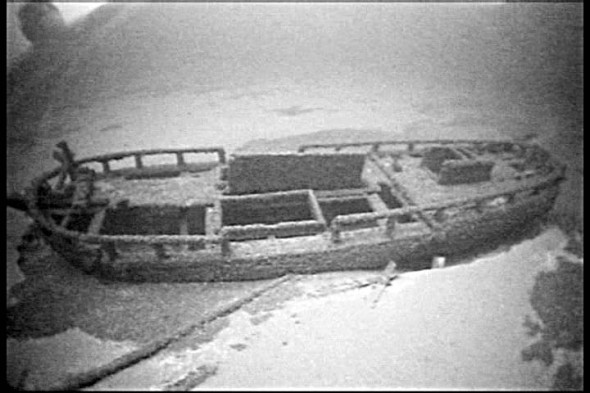 "A view of the schooner ""Three Brothers"" that sank in 1833 was rare model because of the lack of deep water harbors in the 1700s and 1800s.  (Photo provided by Roland Stevens)"