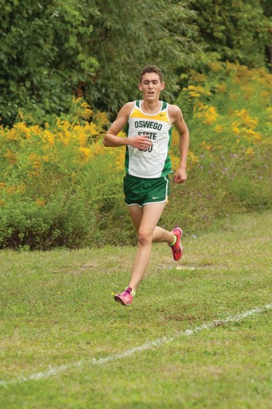 Senior co-captain Nick Montesano has improved over the last four year and is primed and ready to break records in his final season at Oswego State.  (Photo provided by Sports Information)