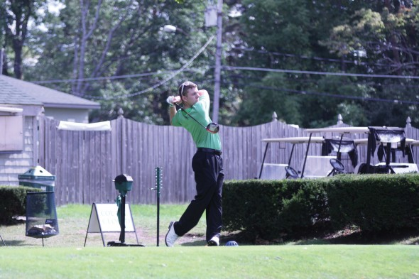 Junior Dan North shot his personal best (73) at the 17th Annual Oswego State Fall Invitaional on monday.  (Photo provided by Sports Information)