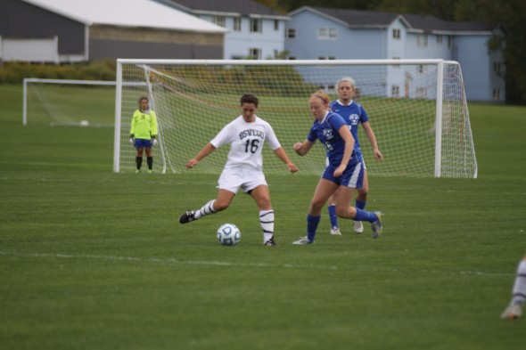Senior Tia Segretto has gotten off to a strong start for the women's soccer team. Leading the Lakers in goals (3) and points (8) through four games this season.  (Photo provided by Sports Information)