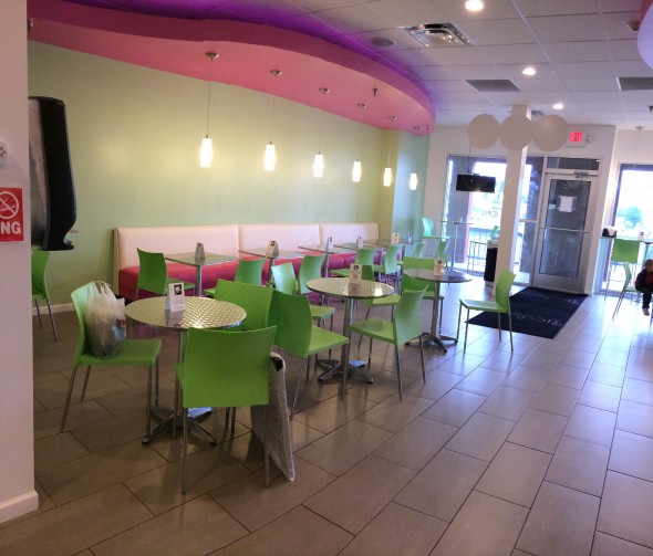 YoBerry's atmosphere is as creative as it's menu options.
