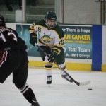Women's ice hockey defeats Midget Aeros in shutout