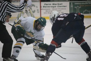 Oswego State made a statement in Friday night's exhibition opener against the USA under-18 team with a 5-3 victory (David Armelino | The Oswegonian).