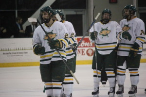 Oswego State pulled off an impressive victory over the USA under-18 team tonight at the Marano Campus Center Arena. The Lakers started SUNYAC play next Friday at Buffalo State (David Armelino | The Oswegonian).