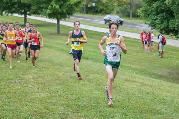 Freshman Kyle Pollicove performed well at the annual Don Masterson Invitational finishing 52nd, he has gone onto to have  great success in his first season.  (Photo provided by Sports Information)