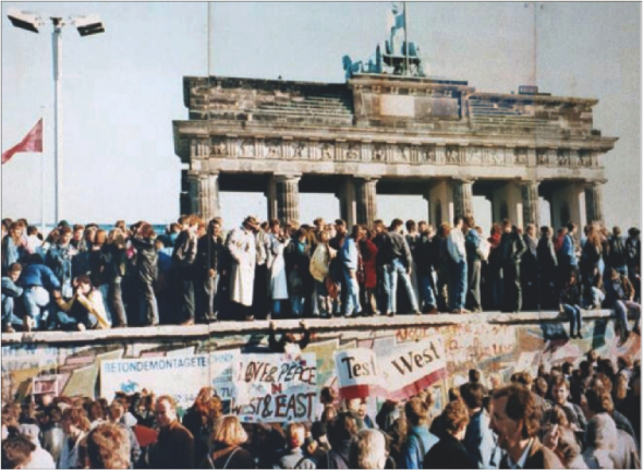 The fall of the Berlin Wall was one of the most influential movements in recent history. Photo taken in 1989.  (Photo provided by Wikimedia)
