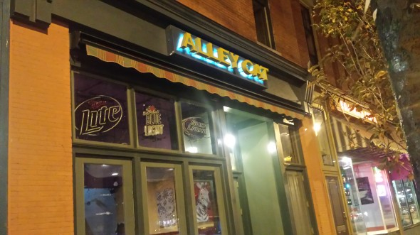 Alley Cat was evacuated and inspected when smoke from a fog machine seeped into the neighboring pizzeria, which resulted in a call to Oswego City Fire Department that shut them down Oct. 30 and into Halloween.  (JoAnn DeLauter |The Oswegonian)