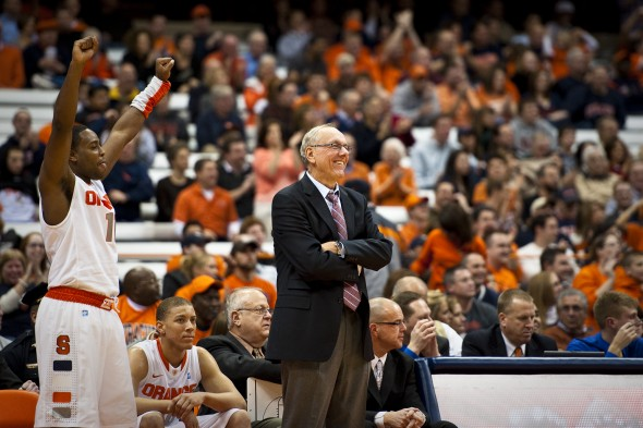Coach Jim Boeheim who has coached Syracuse Orange men's basketball for nearly four decades.  (Photo provided by Aaron Katchen)
