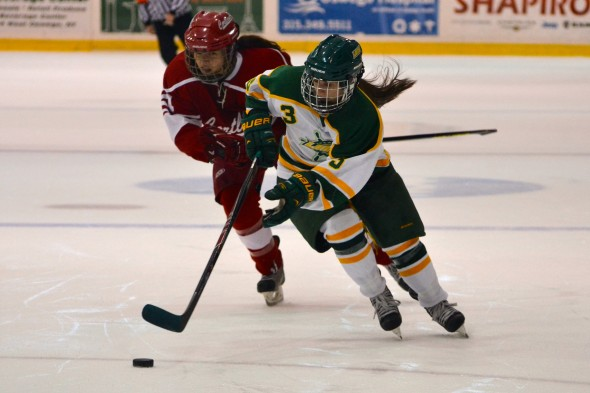 The Laker offense has created a multitude of opportunities thus far during the 2014-2015 season. But, its finishing ability has left something to be desired, especially on the power play (Emily Wright | The Oswegonian).