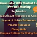 Oswego State hosts SUNY SA town hall meeting