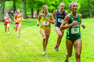 Senior Sarah Popovitch runs the best time of the five Laker competitors who finished in the top 50 (Photo provided by Sports Information).