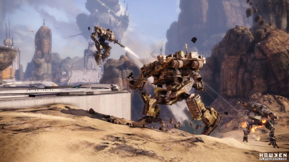 "The mecha-shooter ""HAWKEN"" is just one of the many downloadable games Steam provides players.  (Photo provided by playhawken.com)"