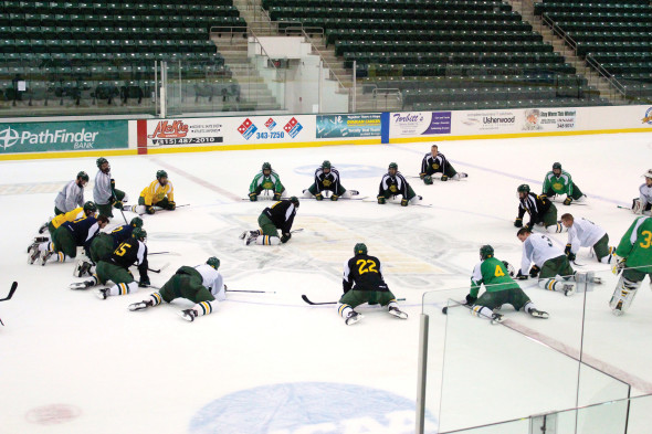 Nowadays, Oswego State calls the Marano Campus Center Arena home. The tradition that the men's ice hockey program has had continues into this year's team.  (David Armelino | The Oswegonian)