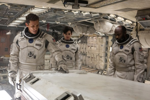 "Academy Award winners Matthew McConaughey and Anne Hathaway star in the mind-bending cosmic expedition, ""Interstellar.""  (Photo provided by interstellar.withgoogle.com)"