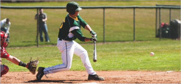 Senior Brian Hamilton is back after he missed the entire 2014 season after finishing his sophomore season tied for the team lead in runs batted in (26).   (Photo provided by Sports Information)
