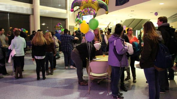 Many students attended the first event of its kind last Tuesday. They were treated to various decorations, music and dancing and dishes to feed those who came.  (Arielle Schunk | The Oswegonian)