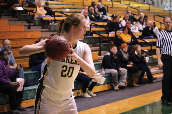 Freshman Rachael Windhausen is confident that the Lakers can make a run at clinching a playoff berth.  (David Armelino | The Oswegonian)