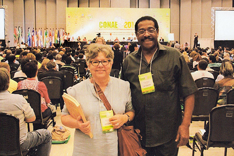 Over 3 million participants were involved in the Brazil conference to address national education concerns. (Photo provided by Alfred Frederick)