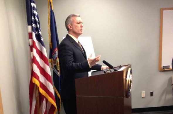 Rep. John Katko holds a press conference Feb. 17 to outline the issues in the district he sees as priority.  (Photo provided by Rep. Katko's Office)