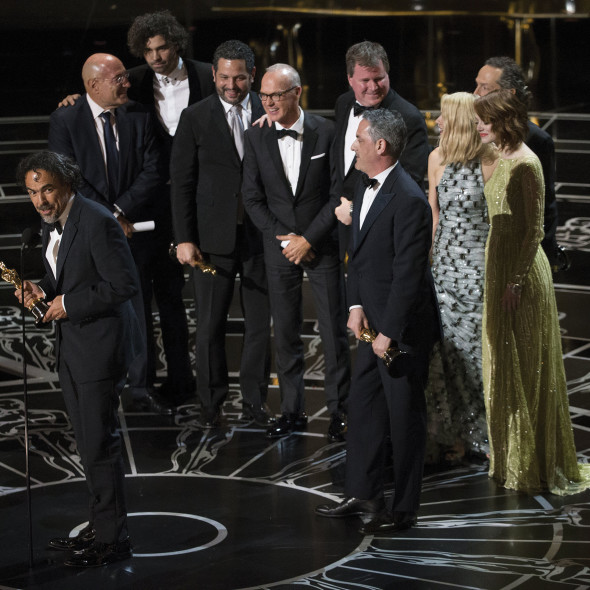 Alejandro González Iñárritu, the cast and crew of 'Birdman' took home Best Picture. (Photo provided by oscar.go.com)