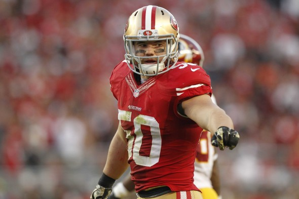 Chris Borland's breakout season for the 49ers looked to be the beginning of a successful career. (Photo provided by Cary Edmondson of USA Today)