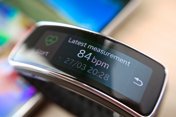 Samsung's Gear Fit (pictured above) is one fashionable option that has health enthusiasts stimulated. (Photo provided by Kārlis Dambrāns via flickr)