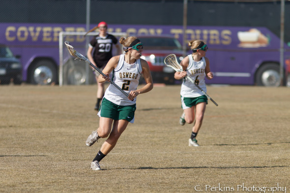 Junior Emily Lange (2) has scored twice or more in six straight games. She has 15 goals in seven games.  (Photo provided by Sports Information)