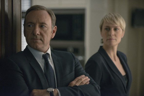 Modern day Macbeths, Kevin Spacey and Robin Wright play ruthless, scheming politicians trying to keep ahead of all their lies. (Photo provided by popsugar.com)