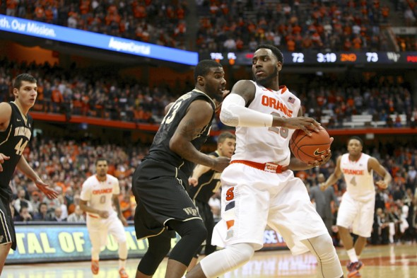Senior Rakeem Christmas provided a spark for the Orange throughout the season, leading to 18 wins. (Photo by Michael Davis of The Syacuse New Times)