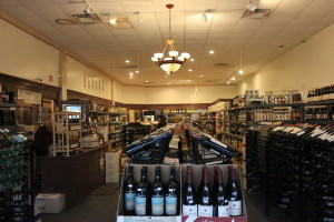 The interior of Andrew's Wine Cellar, showcasing a diverse selection of wines, liquors and liqueurs.