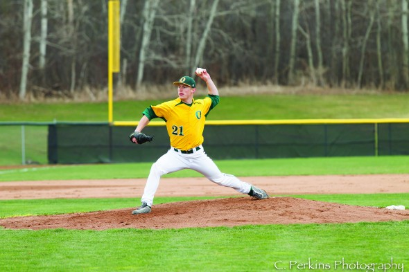 Senior Brendyn Karinchak transferred to Oswego State in 2014 from Central Connecticut State and instantly rose to the top of the pitching rotation. (Photo provided by Sports Information)