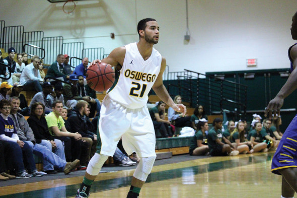 Junior Walter Sampson believes the hard work Oswego State put into the offseason led to the great run.  (David Armelino | The Oswegonian)