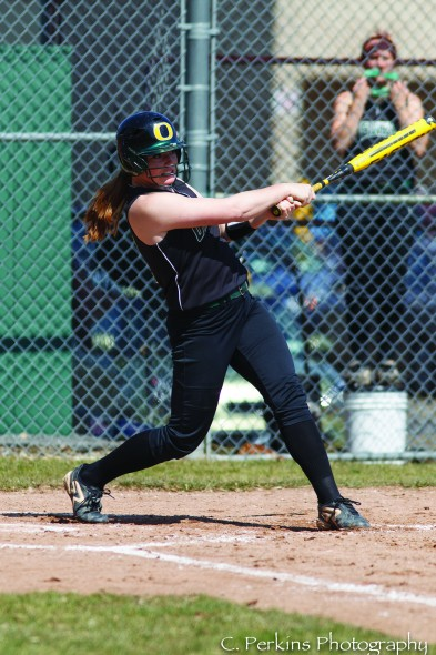 Senior Alexandra McKay has seen the improvement in the pitchers from a catcher's standpoint.  (Photo provided by Sports Information)