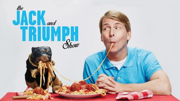 Though some actors might balk at working with a talking dog puppet, Jack McBrayer and Triumph are comedy's newest odd couple. (Photo provided by adultswim.com)