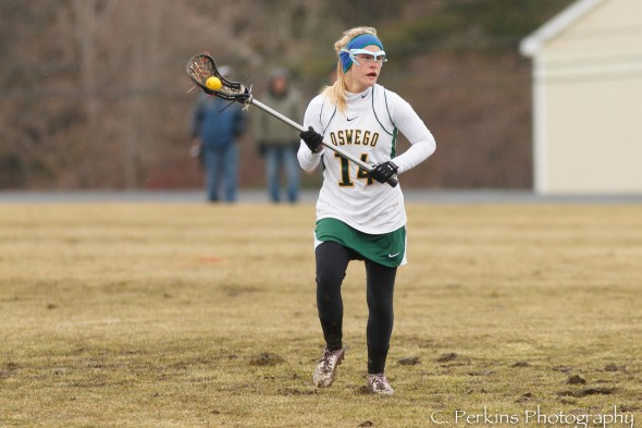 Senior Mackenzie Kjerstad is one of six players with nine goals or more thus far this season.  (Photo provided by Sports Information)