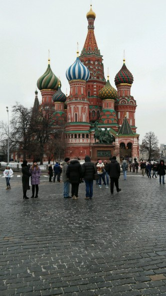 Along with taking theater classes, Oswego State theater students toured Red Square and other places in Moscow.  (Photo provided by Alyssa Scruton)
