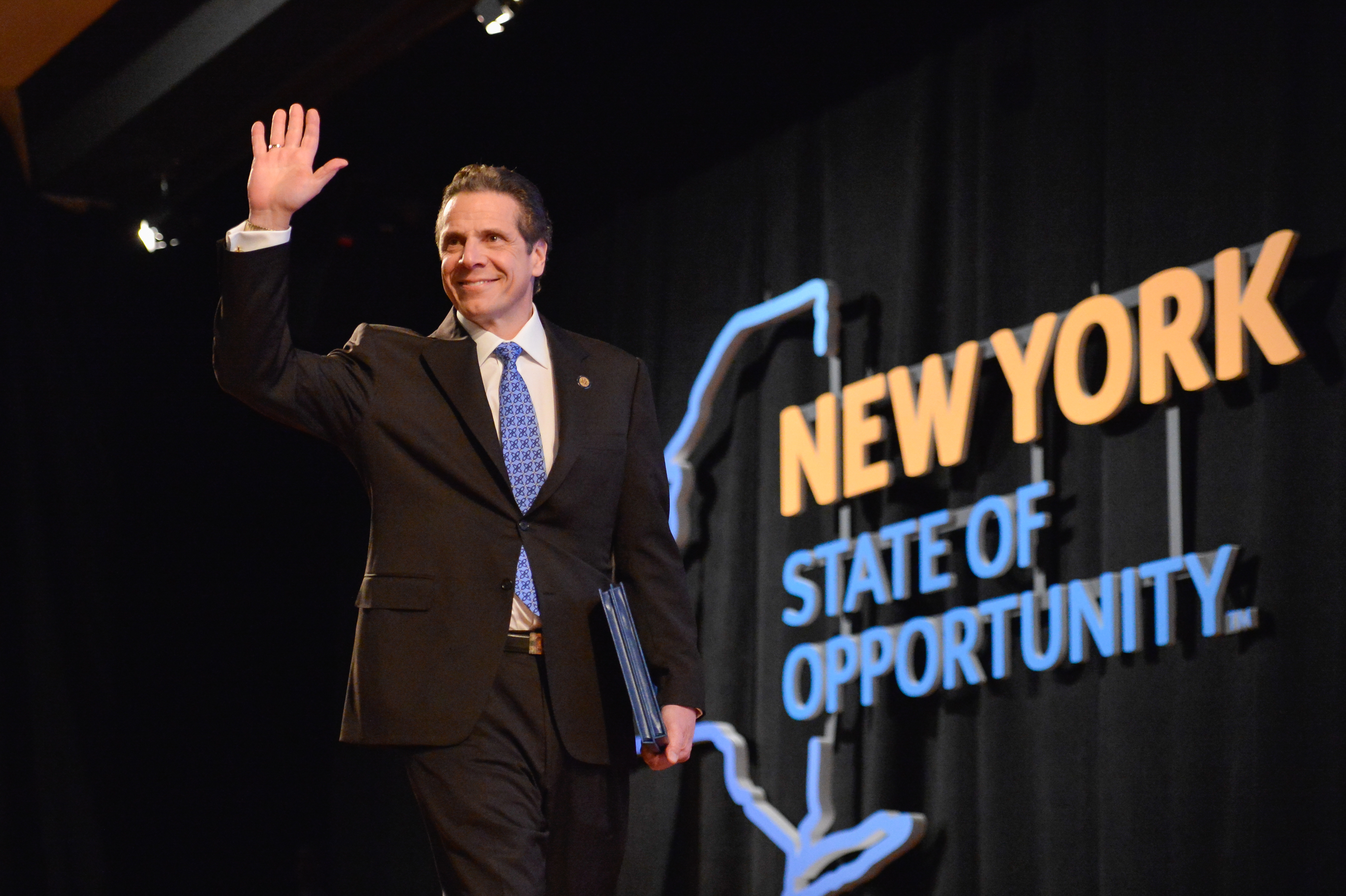 Gov. Andrew Cuomo puts forth a program for college graduates to help pay off college loans two years after graduation as a part of the state's new budget. (Photo provided by the Governor's office)
