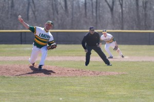 Oswego State is seeking its third weekend series sweep against SUNY Fredonia this weekend in order to keep pace with No. 1 SUNY Cortland for the SUNYAC regular season crown (Taylor Clock | The Oswegonian).