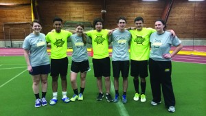 NARP Life poses in its championship T-shirts following a victory over Goals on Goals in the Kick It! Soccer Tournament finals (Photo provided by Gabriela Santos).