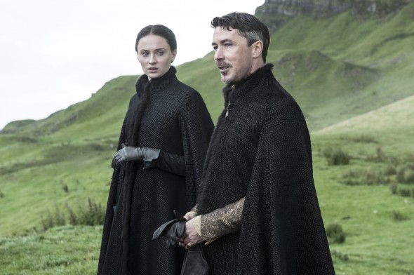 Sophie Turner and Aidan Gillen play a dangerous game for the Iron Throne of Westeros. (Photo provided by hbo.com)