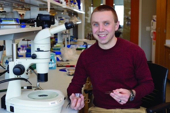 CAREER award winner Christopher Chandler emphasized bioinformatics in his research application.  (Photo provided by the Office of Public Affairs)
