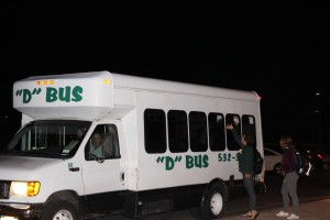 The Oswego Common council plans to initiate a new law restricting buses to travel into residential communities, forcing students to off campus to ride the D-bus. (Alexander Simone | The Oswegonian)