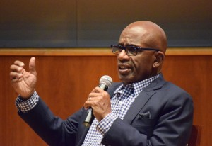 Al Roker '76  comes back to Oswego State to answer questions related to his newest novel on Sept. 25 (Dori Gronich | The Oswegonian)