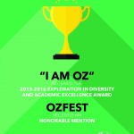 """I Am Oz"" Campaign, Ozfest receives awards from SUNY related to diversity"